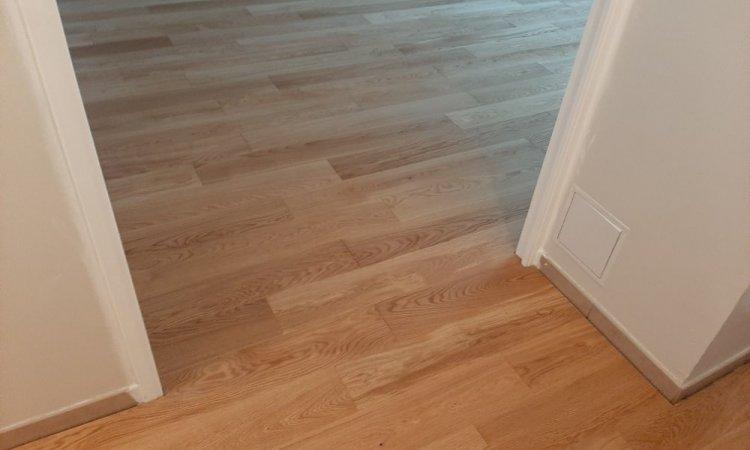 Passage de porte sans seuil couloir/salon